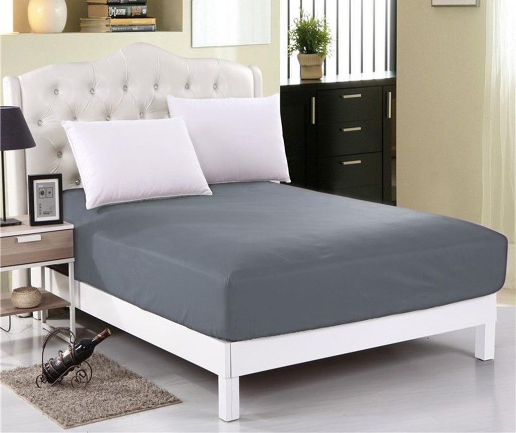 Cearsaf de pat cu elastic Orme Penye Dark Grey 160x200 cm