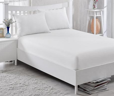 Cearsaf de pat cu elastic Orme Penye White 160x200 cm