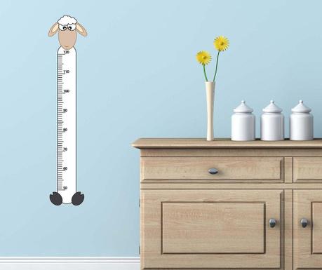 Samolepka na meranie výšky detí Sheep