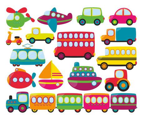 Set 15 nalepk Transport