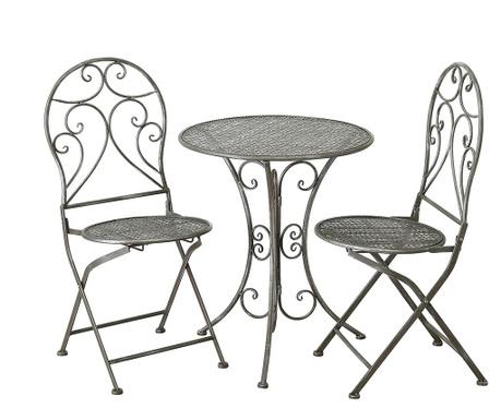 Set - vrtna miza in 2 vrtna stola Rilo
