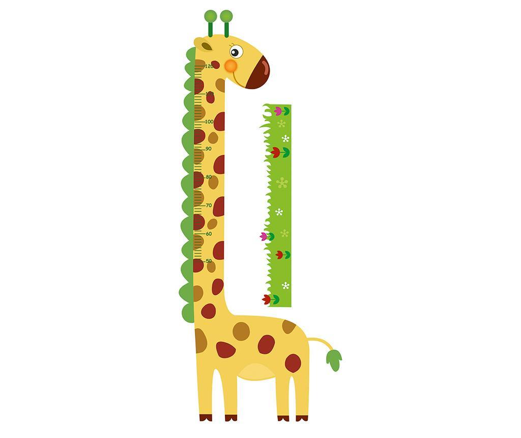Nalepka za merjenje višine otrok Giraffe