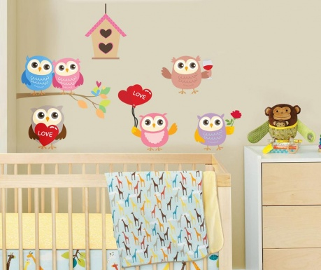 Samolepka Happy Owls