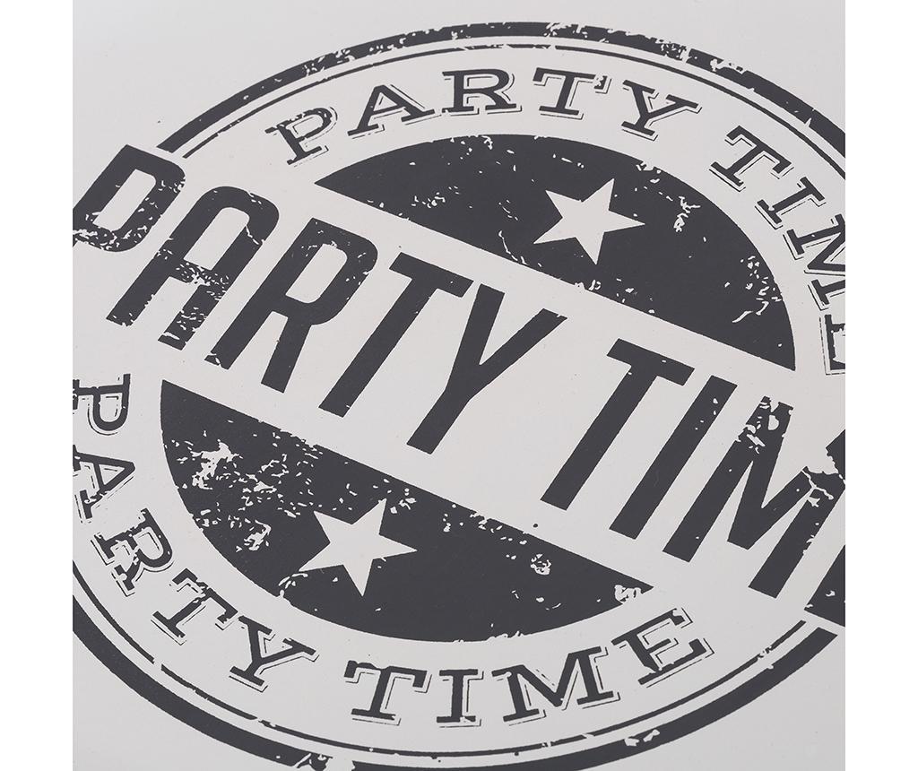 Sada 2 servírovacích podnosov Party Time Round