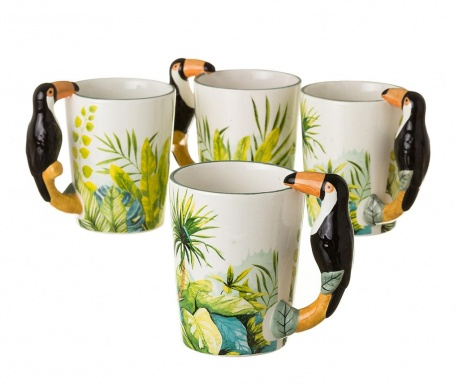 Set 4 skodelic Toucan 400 ml