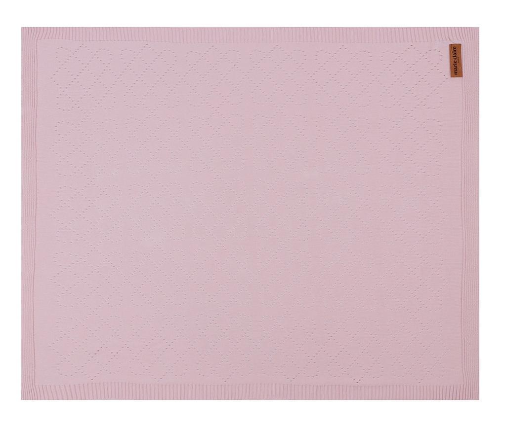 Patura Chloe Pink 80x100 cm