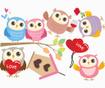 Happy Owls Matrica