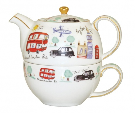 Set ceainic cu ceasca London Travel