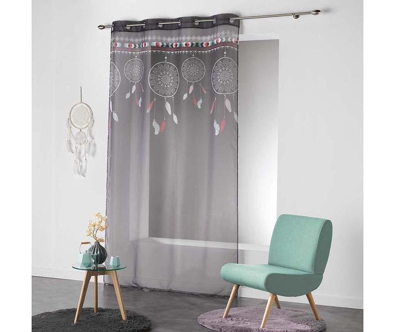 Perdea Indila Anthracite & Mint 140x240 cm