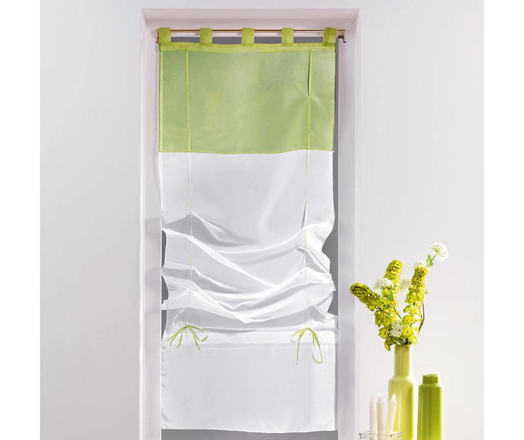Zavesa Voile Duo White & Lime 60x180 cm