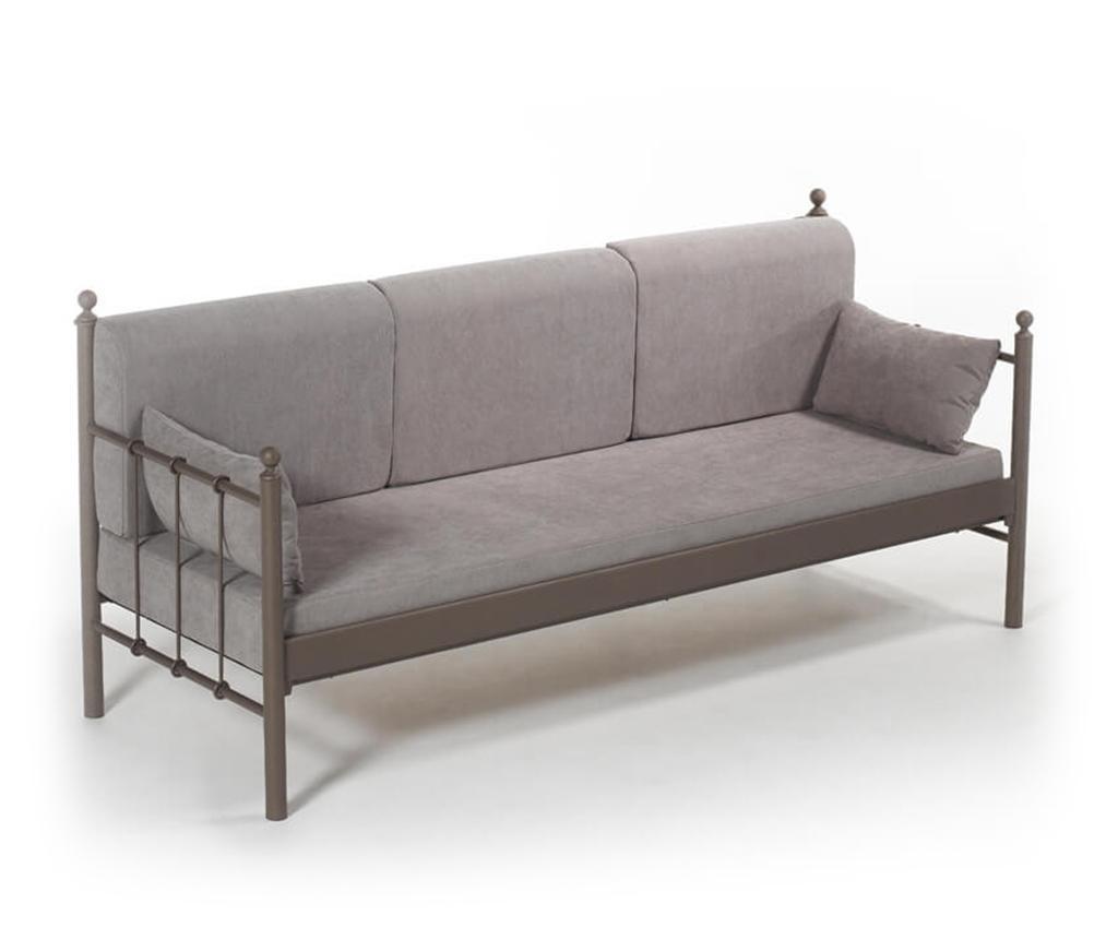 Canapea 3 locuri pentru exterior Lalas Old Brown Fume