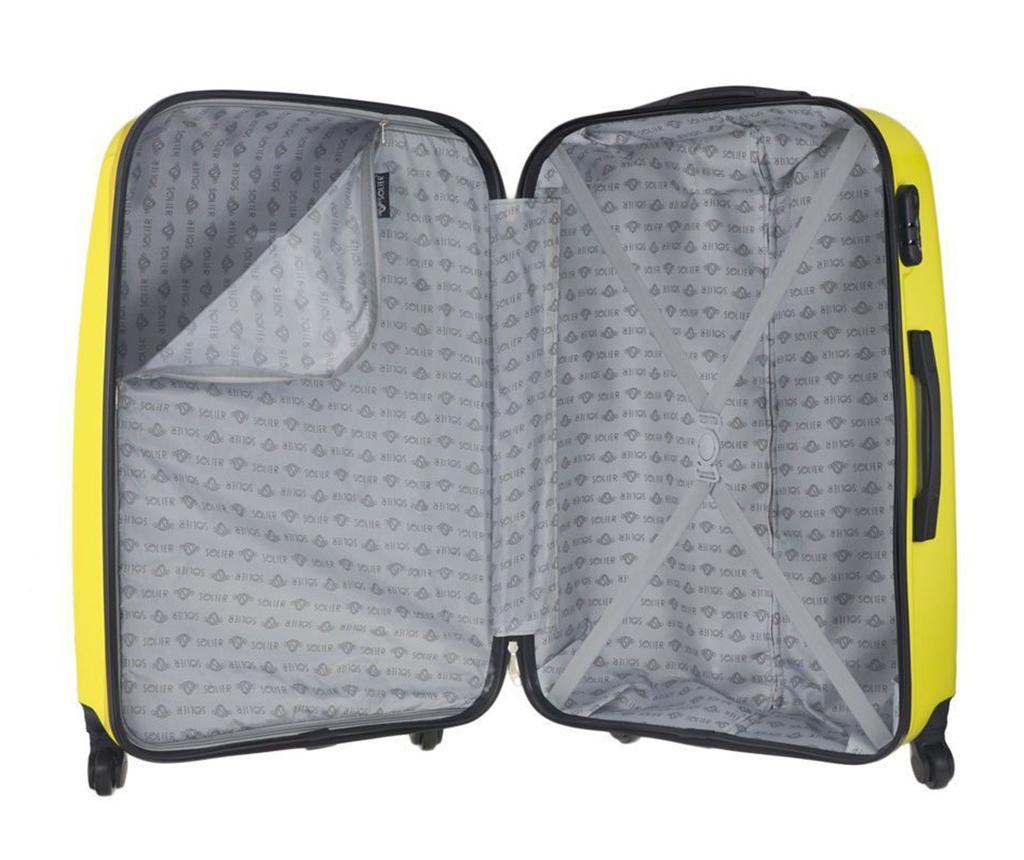 Kovček na kolesih Steady Yellow 31 L