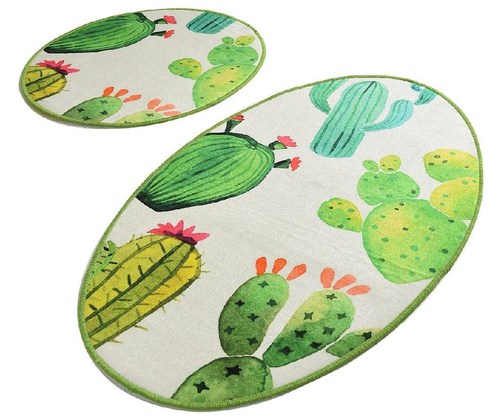 Sada 2 předložek do koupelny Capses Cactus