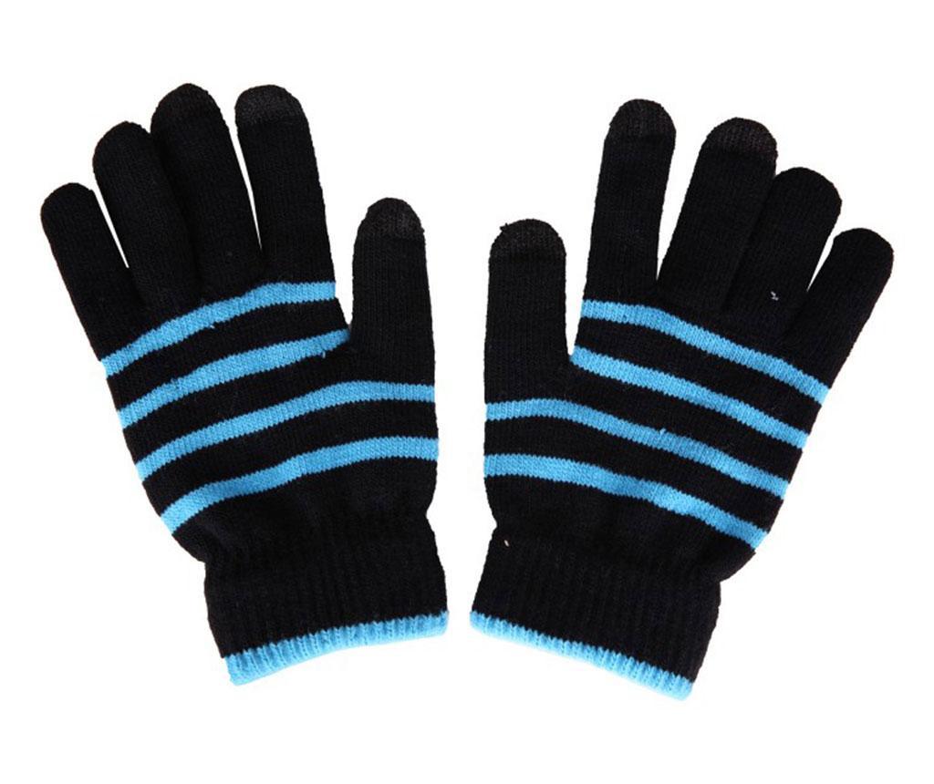 Унисекс Touchscreen ръкавици Akashi Stripes Blue Black M