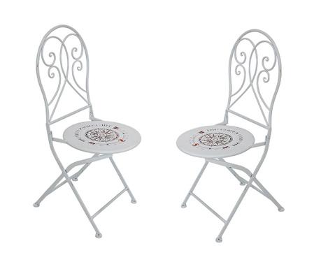 Zestaw 2 krzeseł ogrodowych Bayo