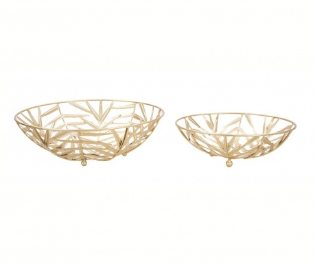 Set 2 platouri decorative Simple Leaves