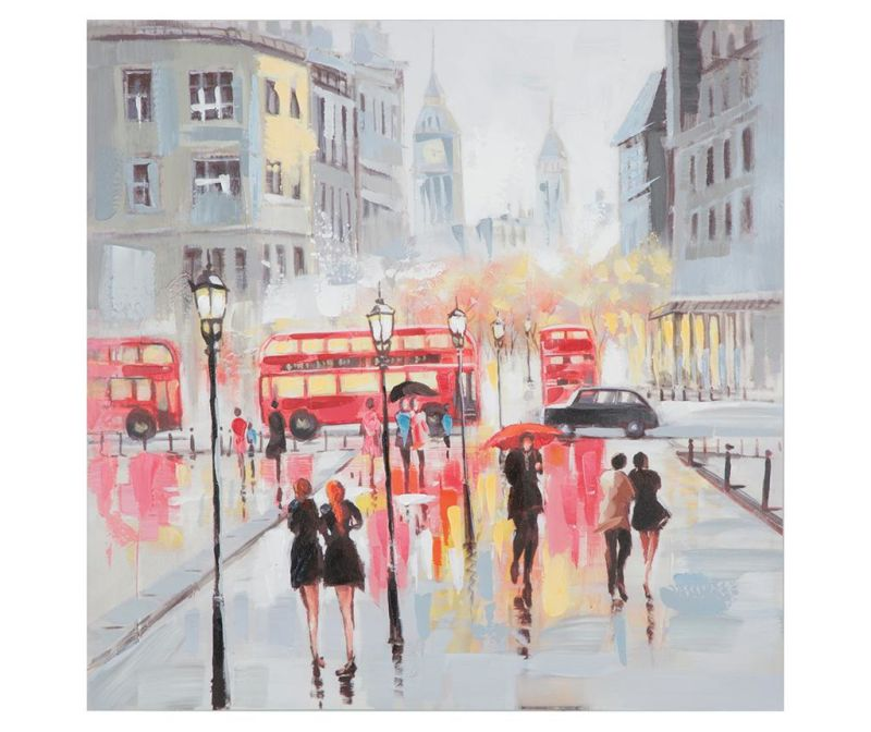Slika Rain London 100x100 cm
