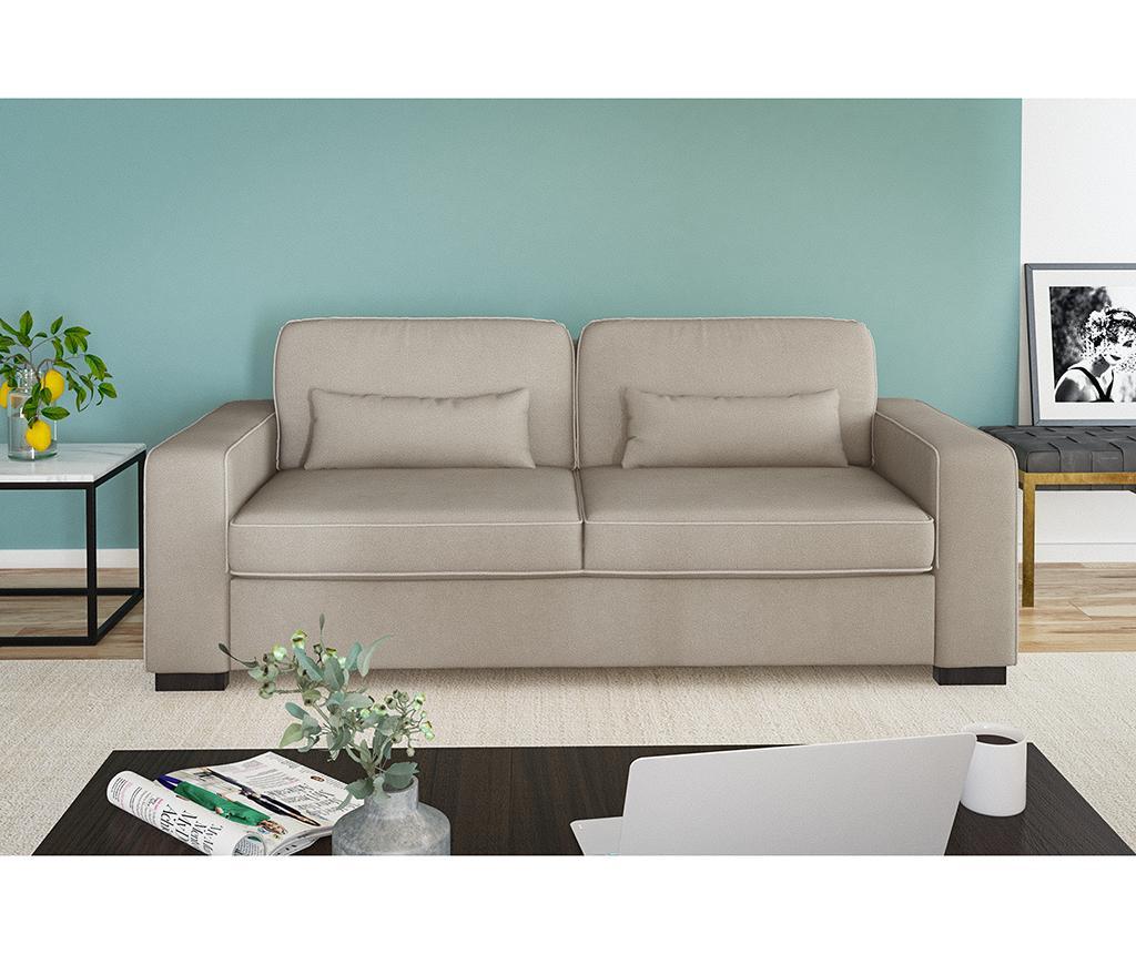 Katherine Taupe Grey Háromszemélyes kanapé