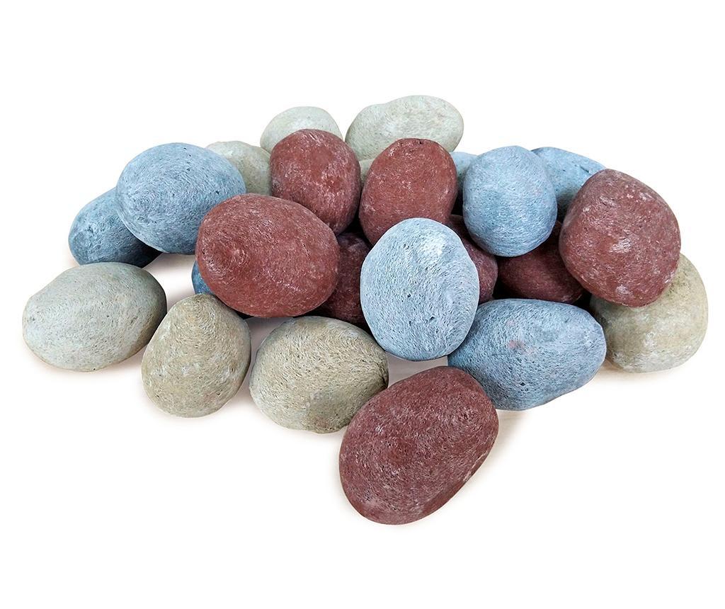 Set 24 decoratiuni pentru semineu Pebbles