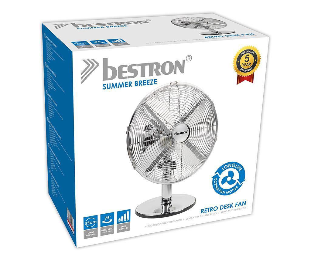 Stolni ventilator Bestron Retro Chrome
