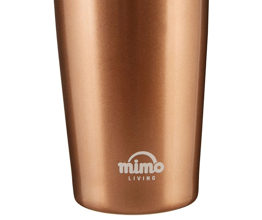 Cana de calatorie Mimo Metallic Gold 550 ml