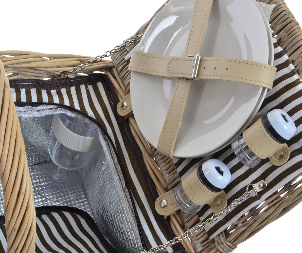Cos echipat pentru picnic 2 persoane Nora