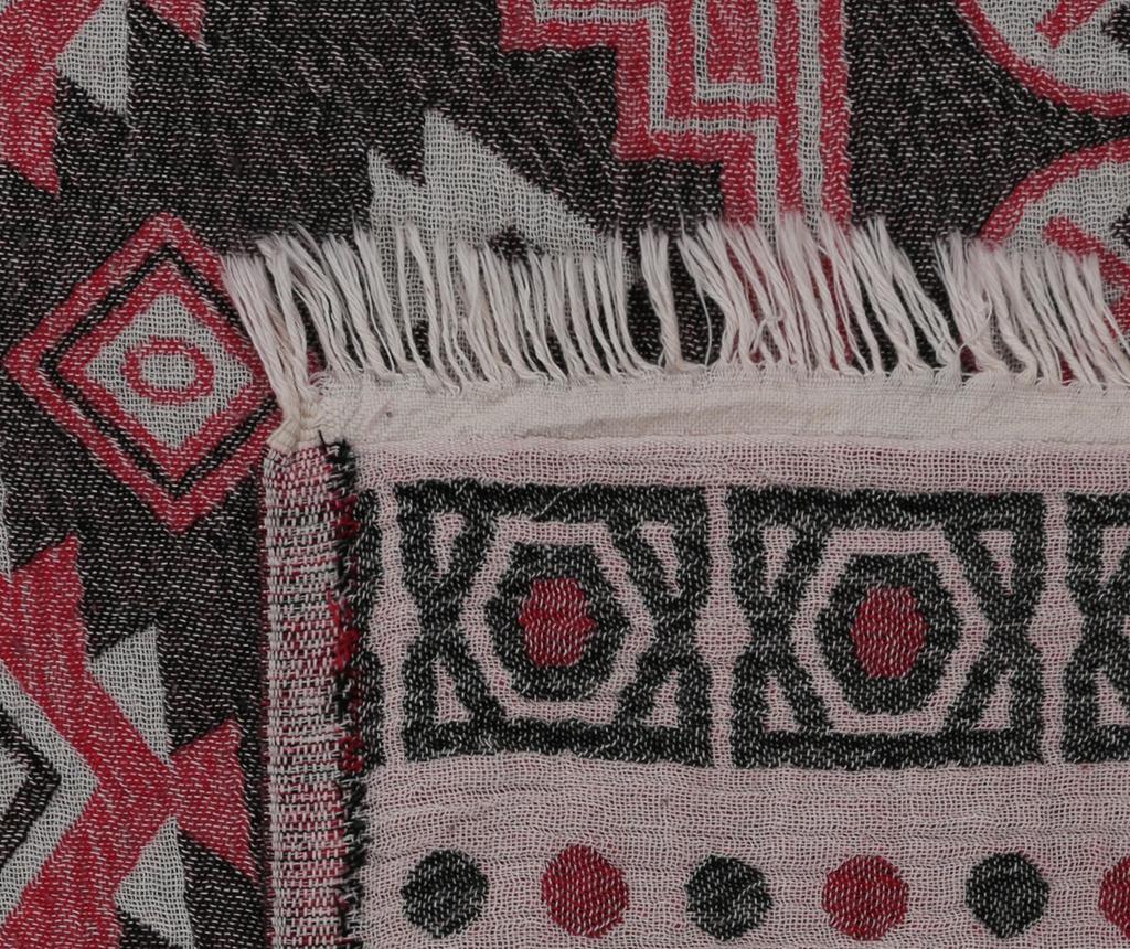 Prosop de plaja Fouta Kilim Red 100x180 cm