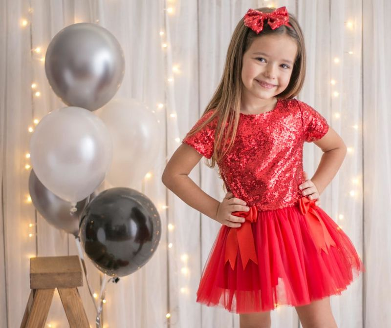 Rochie pentru copii Kylie Red 3 ani