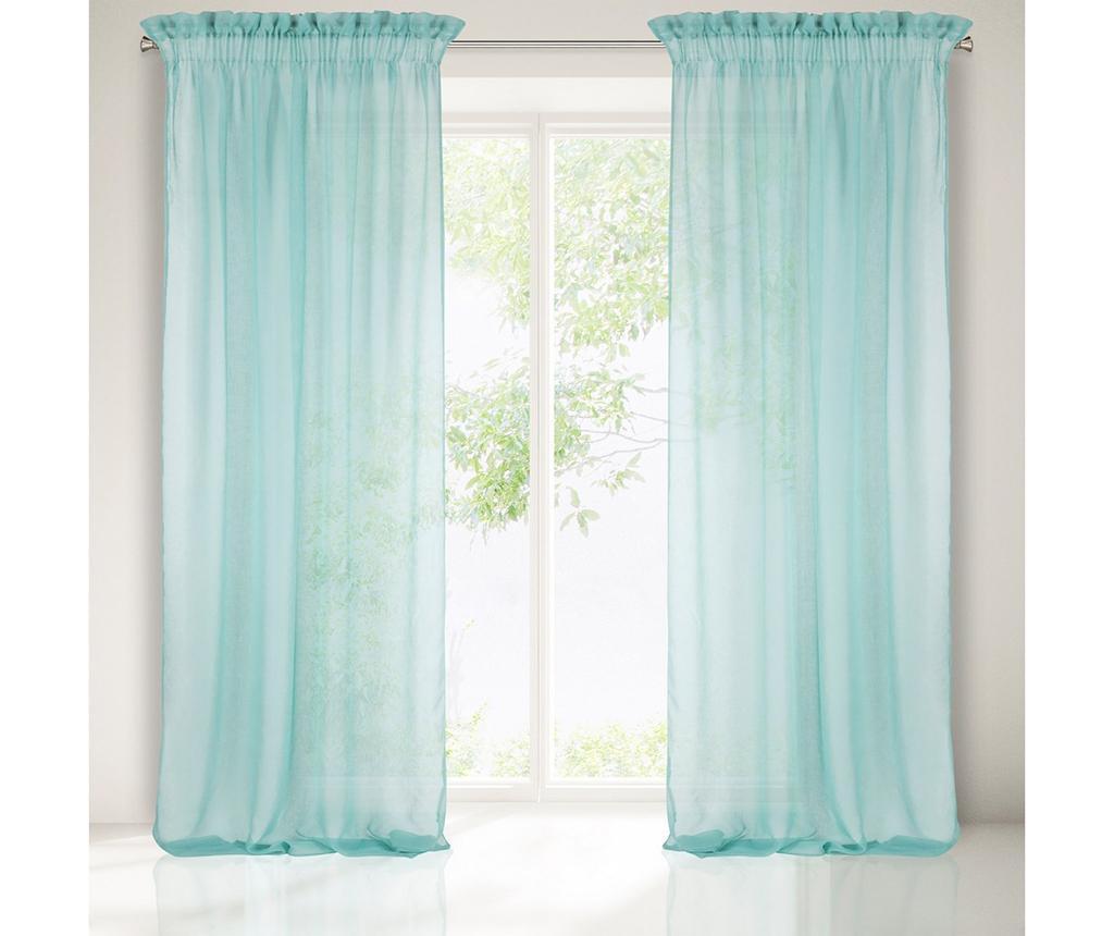 Záclona Metis Turquoise 140x300 cm