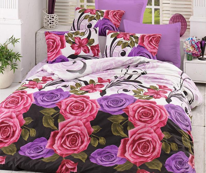 Posteljnina Double Ranforce Roses