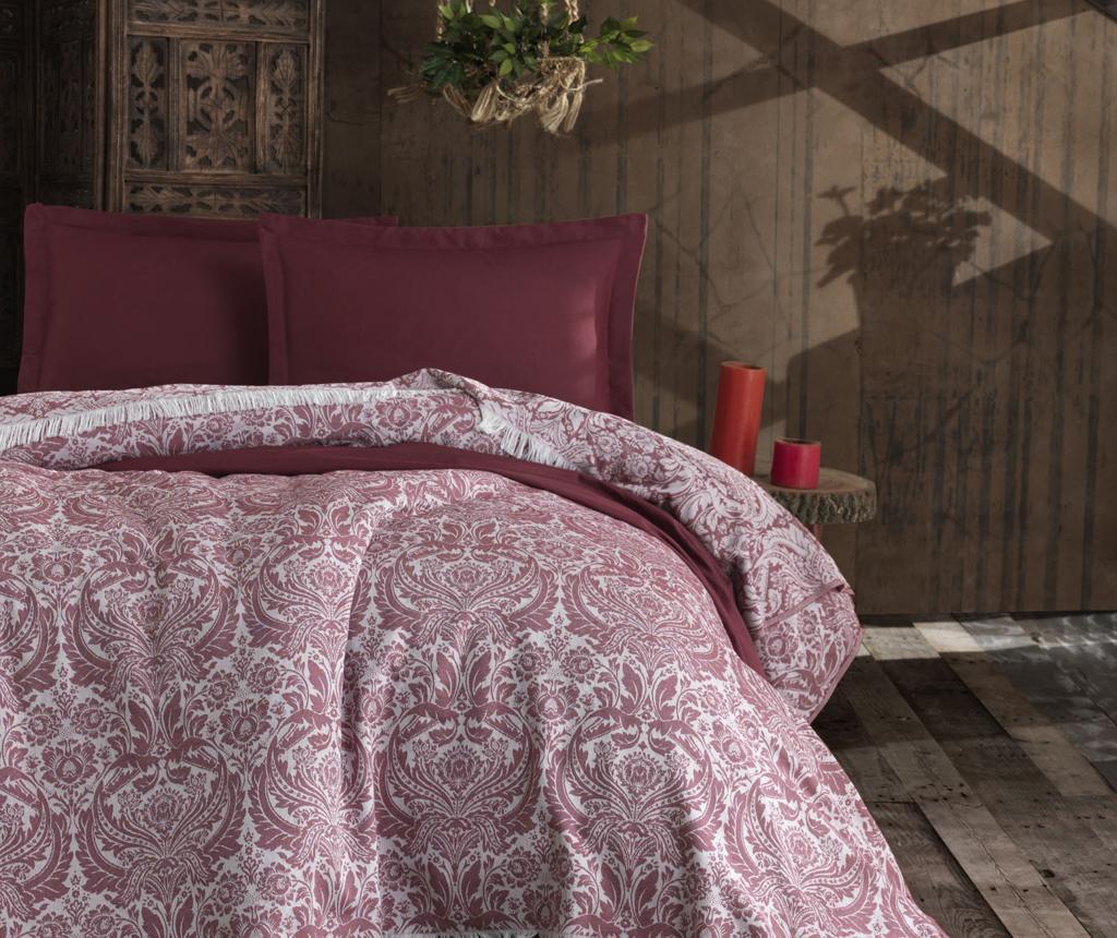 Cuvertura Pique Nish Claret Red 240x260 cm