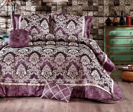 Zestaw Narzuta Na łóżko I 2 Poduszki Dekoracyjne King