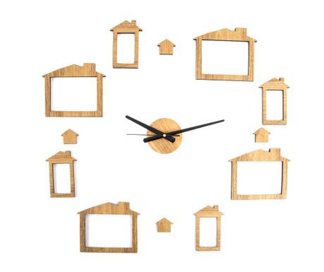 Nástenné hodiny s 8 fotografiami Puzzle Home