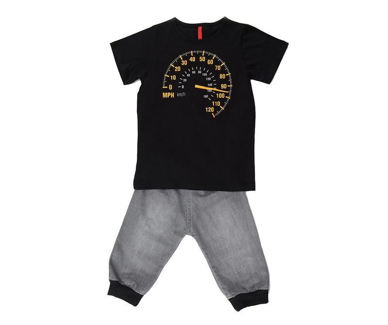 Otroški komplet - majica s kratkimi rokavi in hlače Faster 4 let