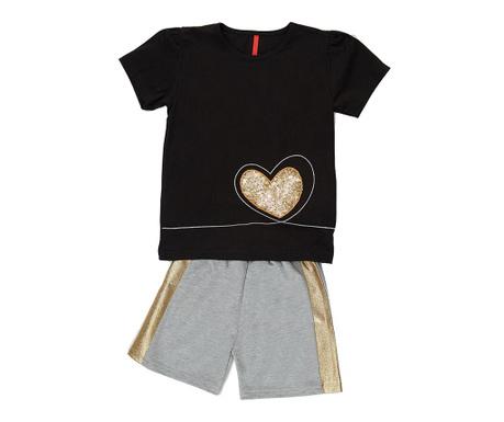 Otroški komplet - majica s kratkimi rokavi in hlače Golden Heart 8 let