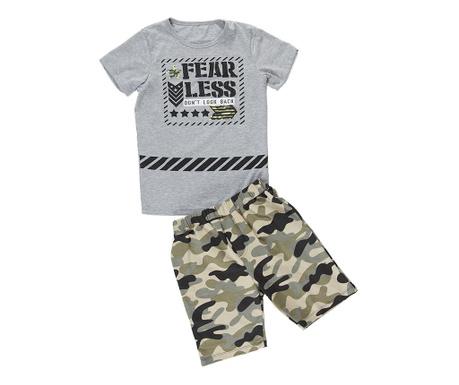Set tricou si pantaloni pentru copii Fearless 3 ani