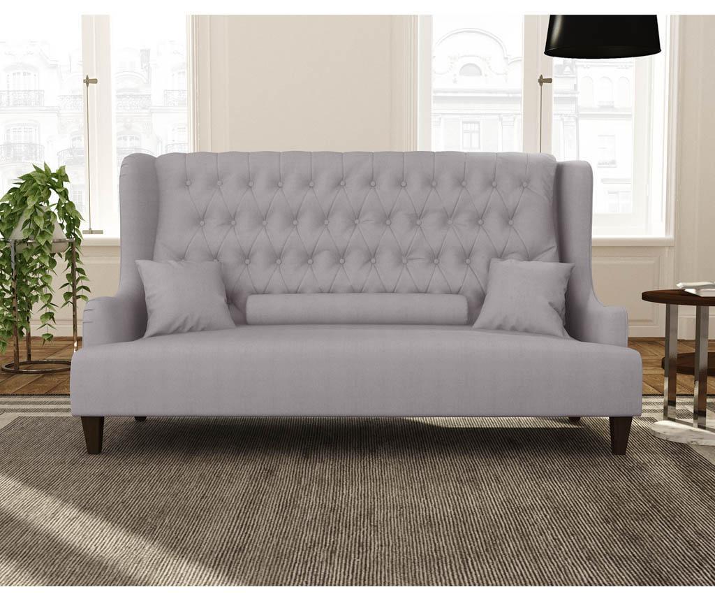 Canapea 3 locuri Flanelle Lavender