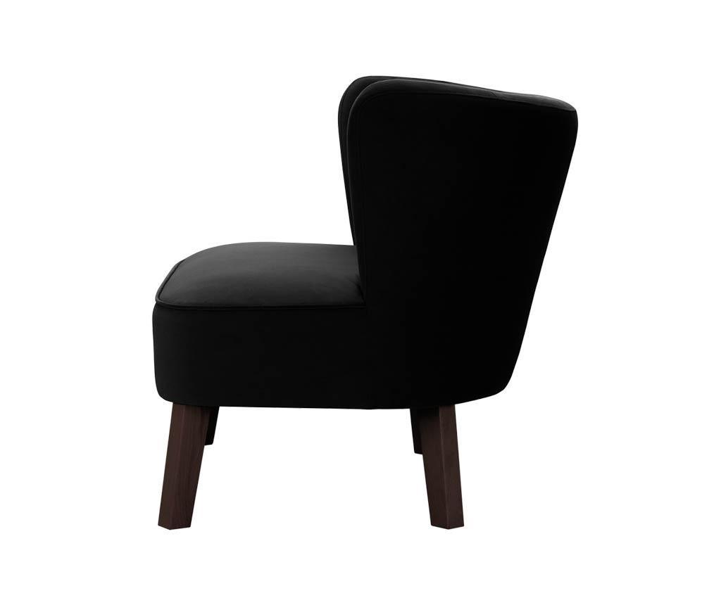 Canapea 3 locuri Organza Black
