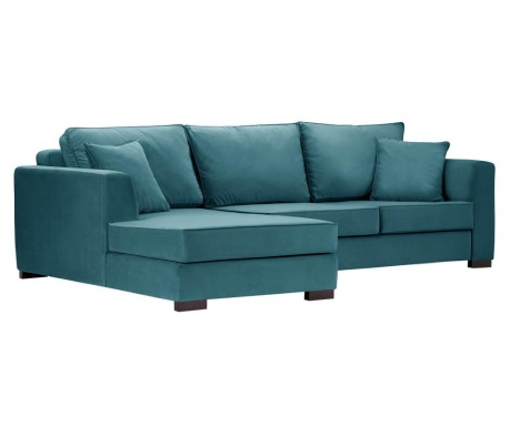 Coltar stanga Taffetas Narrow Turquoise