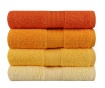Set 4 prosoape de baie Shades Yellow 50x90 cm