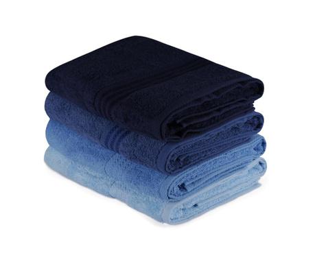 Set 4 kopalniških brisač Rainbow Blue 70x140 cm