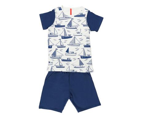 Sada detské tričko a krátke nohavice Boats
