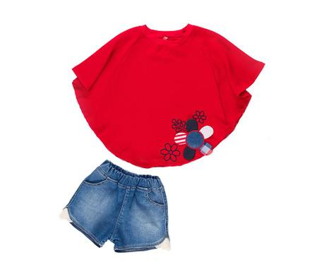 Sada tunika a krátké kalhoty pro děti Flowered Bat