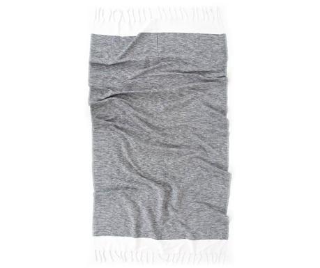 Kupaonski ručnik Pestemal Sare Grey 90x170 cm