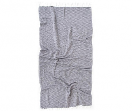 Kupaonski ručnik Pestemal Ilgin Grey 90x170 cm