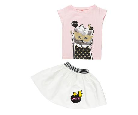 Sada tričko a sukňa pre deti Pop Cat