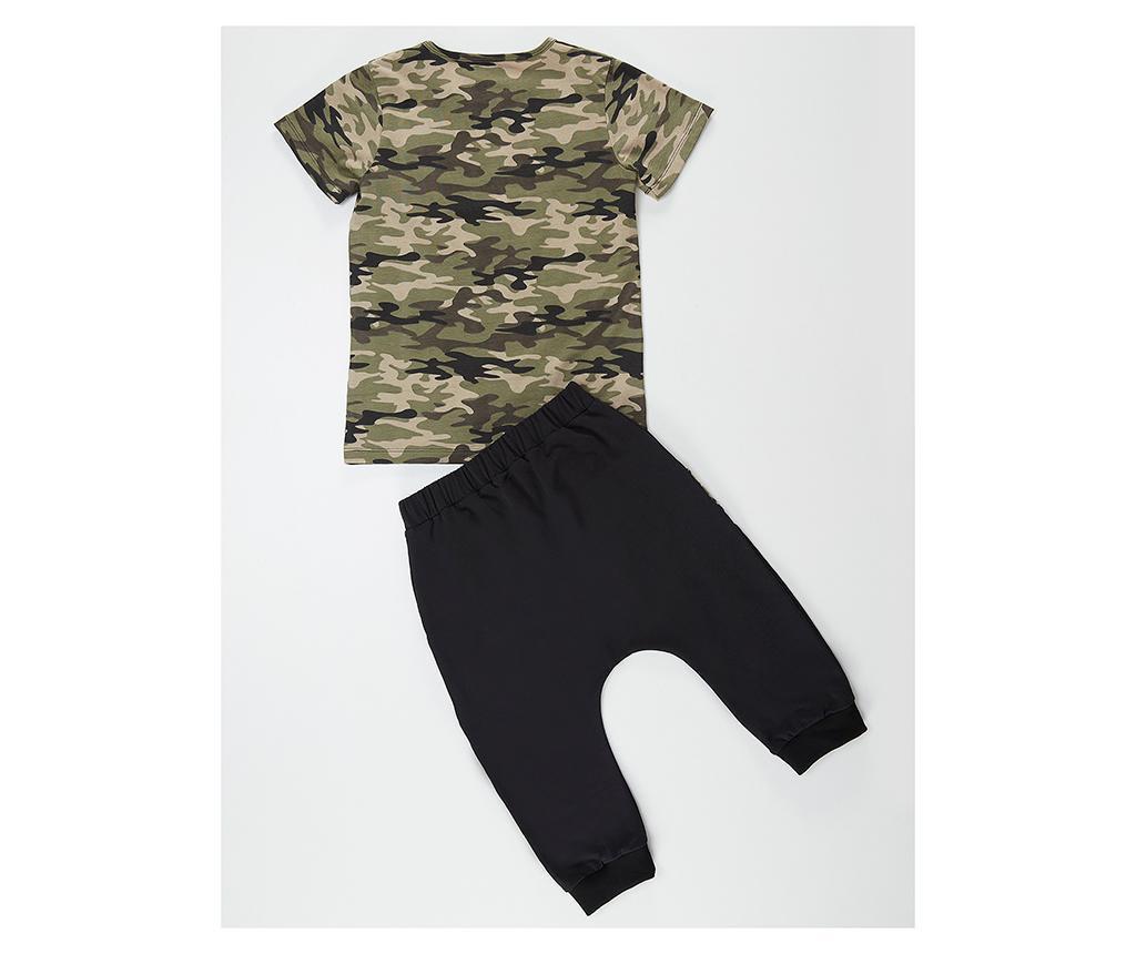 Set tricou si pantaloni pentru copii Apeman Camo 5 ani