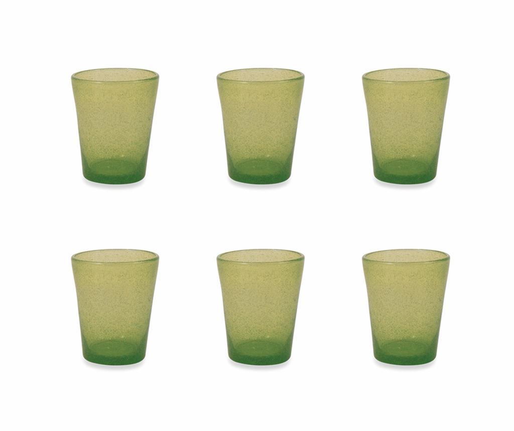 Set 6 pahare pentru apa Cancun Satin Green 330 ml