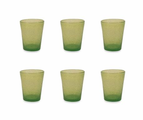 Sada 6 sklenic na vodu Cancun Satin Green 330 ml