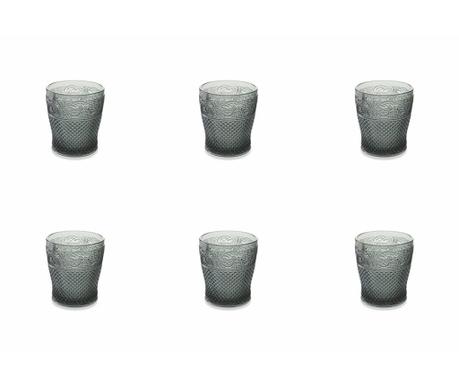 Sada 6 sklenic na vodu Prisma Black 275 ml